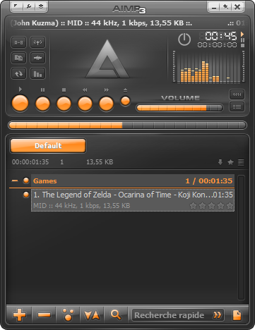 AIMP3: Winamp-like audio and video player, with MIDI recording features
