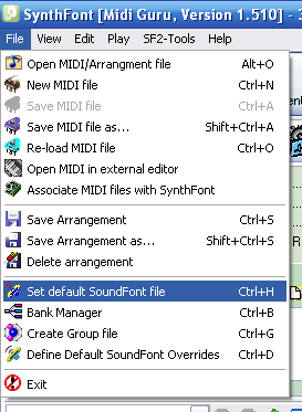 Loading and using Arachno SoundFont on SynthFont