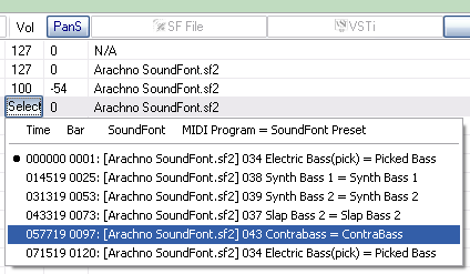 SynthFont settings and advanced use