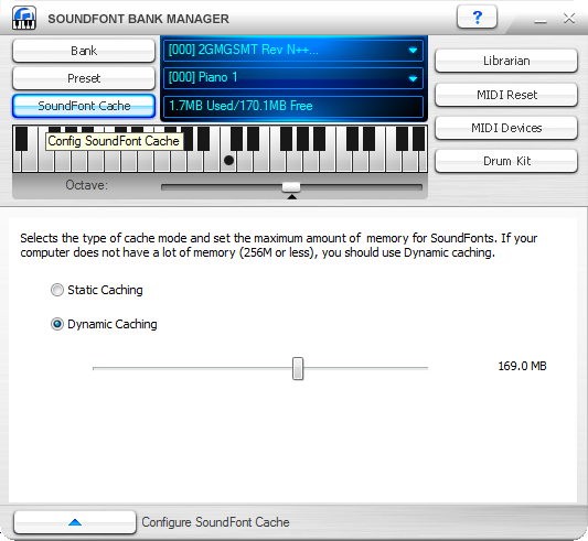 Loading and using Arachno SoundFont on a sound card