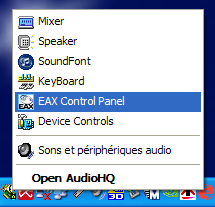 Sound card settings